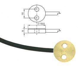 Pt1000TG7 / 0 kábel 1m mosadzná sonda
