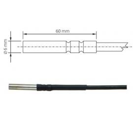Pt1000TG68 / 0 kábel 2m univerzálna sonda