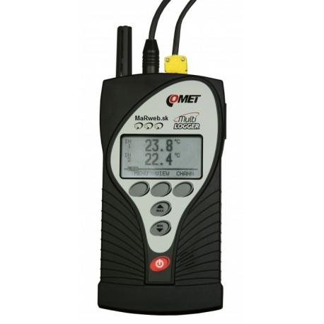 M1220 Multilogger záznamník teploty, vlhkosti so vstupmi Tc a MiniDIN