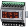 N43 3-fázový analyzátor siete na DIN