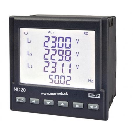 ND20 3-fázový analyzátor siete