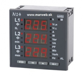 N14 3-fázový analyzátor siete