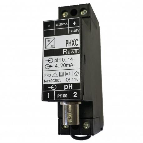 PHXC programovateľný prevodník pre sondy pH, s galvanickým oddelením, na lištu DIN
