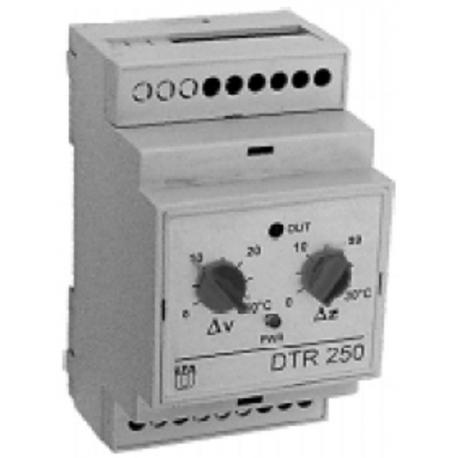 Regulátor rozdílu teplot pro solární systémy DTR 250