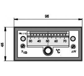 TRS 210 Elektronický dvojpolohový regulátor teploty