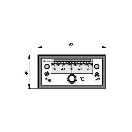 Elektronický dvoupolohový regulátor teploty TRS 210