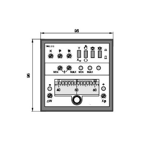 Elektronický třípolohový regulátor teploty TRS 213 s hlídáním mezních stavů