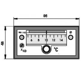 TRS 250 Elektronický dvojpolohový regulátor