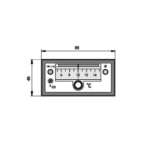 Elektronický dvoupolohový regulátor rozdílu teplot TRS 250