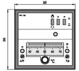TRS 292 Elektronický trojpolohový regulátor teploty