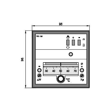 Elektronický třípolohový regulátor teploty TRS 292