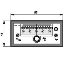 TRS 311 Elektronický dvojpolohový regulátor teploty