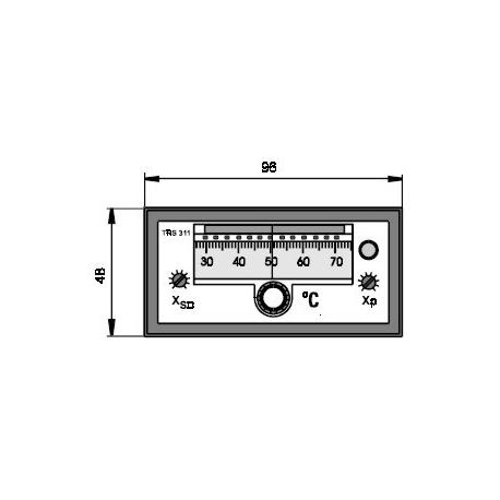 Elektronický dvoupolohový regulátor teploty TRS 311