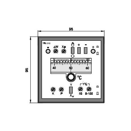 Elektronický třípolohový regulátor TRS 312