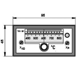 TRS 391 Elektronický dvojpolohový regulátor teploty