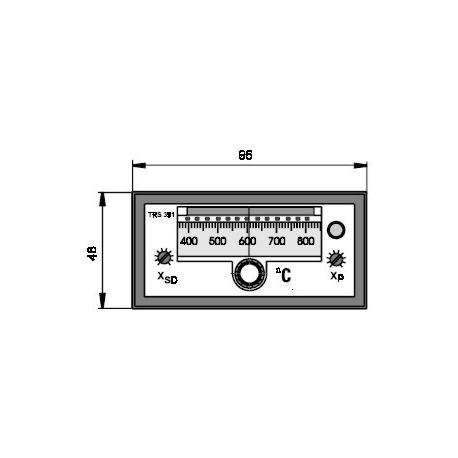 Elektronický dvoupolohový regulátor teploty TRS 391