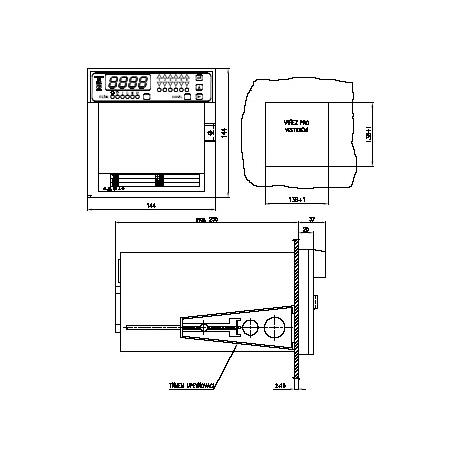 ZEPAREX 539 programovatelný bodový zapisovač s digitálním zobrazováním