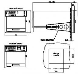Liniový programovatelný zapisovač s digitálním zobrazováním ZEPAREX 549
