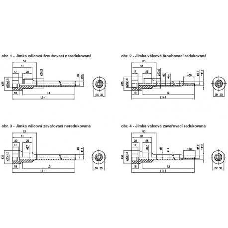 Příslušenství odporových a termoelektrických snímačů teploty