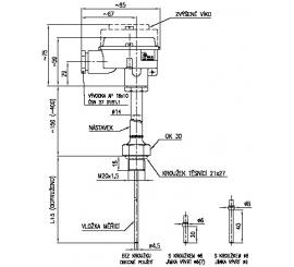 Termoelektrický snímač teploty do jímky s termočlánkem Ø 4,5mm