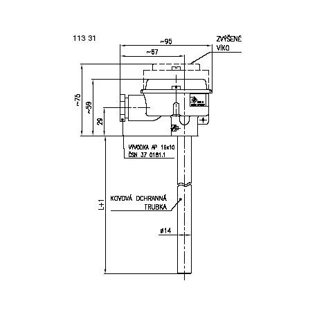Termoelektrické snímače teploty tyčové s kovovou ochrannou trubkou