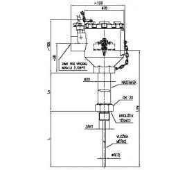 Termoelektrický snímač teploty EExd do jímky s převodníkem Rosemount 644 s HART protokolem