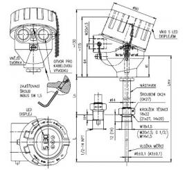 Termoelektrický snímač teploty Ex d do jímky DIN bez převodníku nebo s převodníkem
