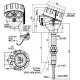 Termoelektrický snímač teploty Ex d do jímky DIN se spojovacím šroubením na nástavku bez převodníku nebo s převodníkem
