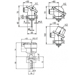 T1010 Odporový snímač teploty priestorový s prevodníkom