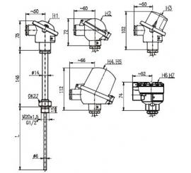 T1020 Odporový snímač teploty bez jímky s prevodníkom