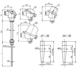 T1023 Odporový snímač teploty do jímky s prevodníkom