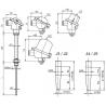 T1023 Odporový snímač teploty do jímky bez převodníku nebo s převodníkem