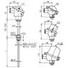 T1025 Odporový snímač teploty s jímkou bez převodníku nebo s převodníkem
