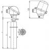 T1508 Termoelektrický snímač teploty tyčový s keramickou ochrannou trubkou z SiC