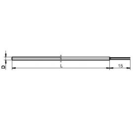 T1531 Plášťový termoelektrický snímač teploty s voľnými vývodmi