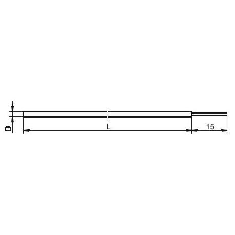 T1531 Plášťový termoelektrický snímač teploty s volnými vývody větví
