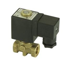 Elektomagnetický ventil  dvojcestný priamoovládaný 2VE2F, 2VE2FJ, 2VE2.5F, 2VE2.5FJ, 2VE3F, 2VE3FJ, 2VE4F, 2VE4FJ