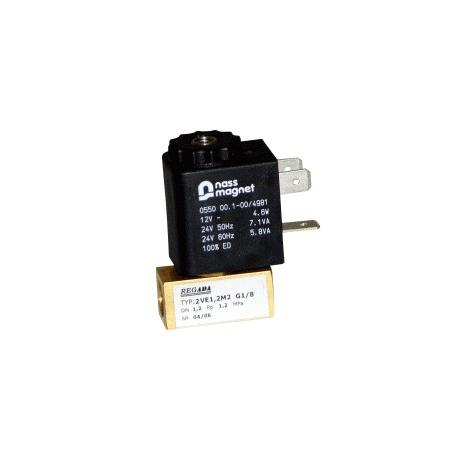 Elektomagnetický ventil  dvojcestné priamoovládané 2VE1.2M1, 2VE1.6M1, 2VE2M1, 2VE2.5M1, 2VE1.2M2, 2VE1.6M2, 2VE2M2