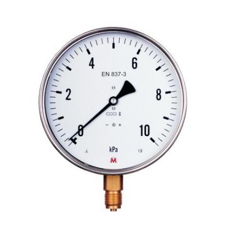MM 160S/317/1,6  nízkotlakový štandartní tlakomer
