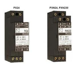 PX24, PXN24, PXN230 (RTD,Tc) Prevodník odporu a termonapätia