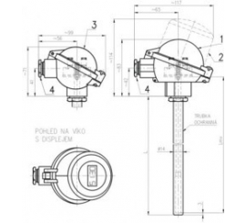 251 Snímač teploty odporový s kovovou ochrannou rúrkou