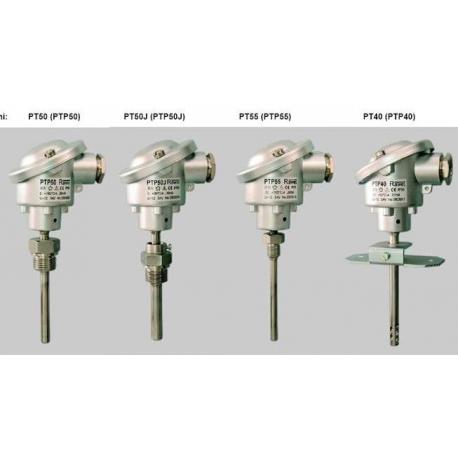 PT40 až PT55 Odporové snímače teploty s hlavicou