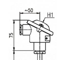 T1002 Odporový snímač teploty do jímky