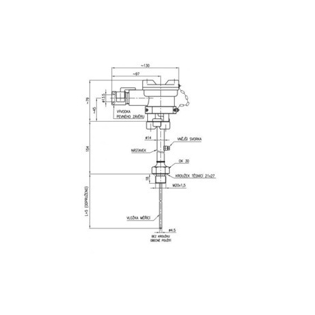 113 68 , 113 68/P Termoelektrické snímače teploty Ex d do jímky