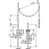 113 75 Termoelektrický snímač teploty s káblovým vývodom