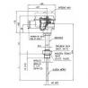 303 Termoelektrický snímač teploty EExd do jímky s prevodníkom Rosemount 644