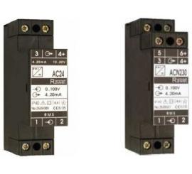 AC24, ACN24 a ACN230 Převodník skutečné RMS hodnoty střídavého proudu a napětí
