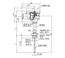 331 Termoelektrický snímač teploty do jímky DIN