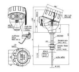 333 Termoelektrický snímač teploty Ex d do jímky DIN