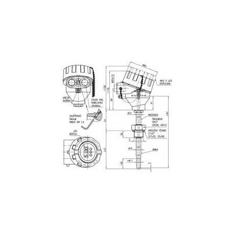 334 Termoelektrický snímač teploty Ex d s jímkou DIN